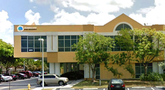 Home office of Hurricane Steel Buildings® in South Florida